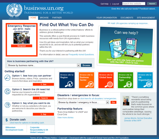 how to become a partnership from united nations