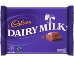 A Cadbury Dairy Milk bar sporting its new Fairtrade seal, http://www.cadburygiftsdirect.co.uk/images/thumbs/0000592_470-Cadbury-Dairy-Milk-400g.png