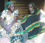 A poor world war II veteran and his spouse during a study of the very poor in Uganda