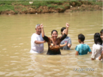 Celebrating a baptism in Southern Africa