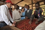 Starbucks executives with coffee farmers at a coffee washing station at Dukunde Kawa Cooperative in Rwanda http://bizwire.tekgroup.com/media/57/188590_4.jpg