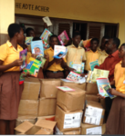 It is one of the schools we have presented library books to enhance teaching and learn of the teachers and children