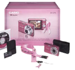 The EXILIM EX-Z75 Pink Ribbon camera
