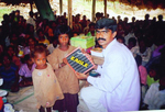 Distribution of slates to tribal children
